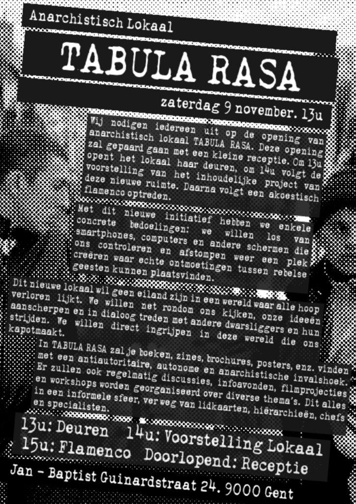 nieuwe anarchistische ruimte Tabula Rasa