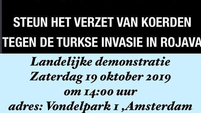 Amsterdam demonstratie: Steun democratie in ROJAVA
