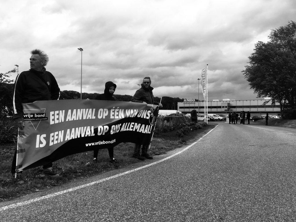 Foto: Aktion des Vrije Bond bei JUMBO in Beilen/NL (2019)