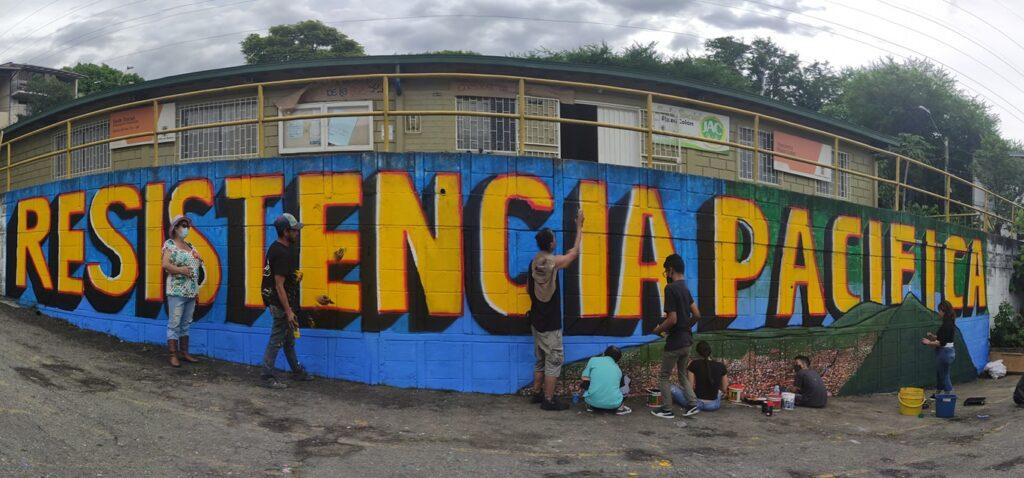 colombia paro nacional resistencia pacifica muurschildering