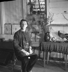 Melle, atelier Amsteldijk 62, foto Emmy Andriesse (1948/1949)